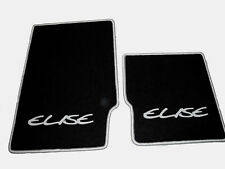 Black velours floor mats for Lotus Elise MK1 1996-2000 LHD Logo gray