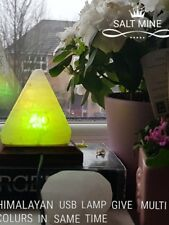2 X USB WHOLESALE Himalayan Rock Salt Lamp Pyramid  Shape USB color changing LED