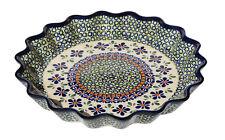 Polish Pottery Quiche / Scalloped Pie Dish  from Zaklady Boleslawiec 1331/du60