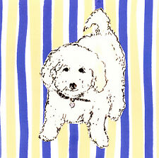 "BICHON FRISE TOY WHITE DOG FINE ART PRINT - ""Boho Dogs VII"""