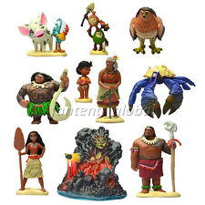 10pcs/set Movie Moana Cartoon PVC Decoration Toy Action Figure Doll 3-8cm