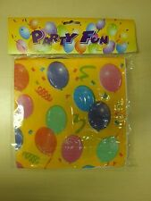 Party Balloon Fun Paper Napkins Serviette | Pack of 120 | Bright Colour Yellow