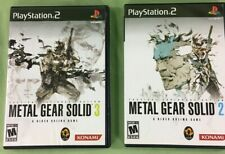 Metal Gear Solid: The Essential Collection #2 & #3 Only Inclused Manuals PS2.
