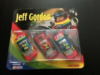 ACTION 1:64 SCALE STOCK CAR COLLECTIBLES JEFF GORDON DUPONT #24 DIECAST SET OF 3