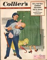 NOV 8 1952 vintage COLLIERS magazine - POLICE MAN - VOTING