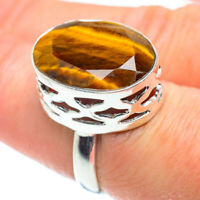 Large Tiger Eye 925 Sterling Silver Ring Size 7.5 Ana Co Jewelry R52171F