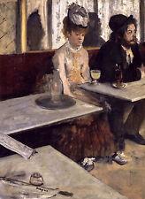 Edgar Degas - In a Café, Absinthe, 1873, Art Poster, Museum Canvas Print