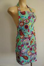 Turquoise Vintage Paisley Retro 100% Cotton Women's Apron