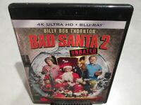 Bad Santa 2 Unrated 4K UHD Ultra HD Blu-ray Nice Shape! Fast Free Shipping!