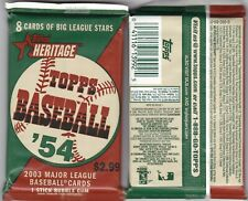 2003 Topps Heritage Two(2) Packs. SP's, Autographs, Relics, and Inserts.
