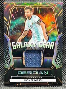 2020-21 Panini Obsidian =Lionel Messi= ORANGE GALAXY Gear #'d /50 Argentina