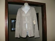 $99.95 NEW NWT COLDWATER CREEK SHIMMER CARDIGAN SWEATER GORGEOUS TOGGLES L 14-16