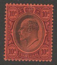 Transvaal MINT EVII 1902 10/- black & purple on red sg255