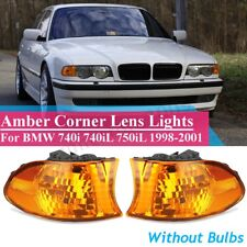 Pair Amber Lens Parking Corner Light Signal Lamp For 1998-2001 BMW E38 7