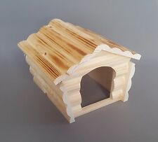 Rat Hamster Large Wooden House Mouse with Roof of Wood Logs Mice Gerbil Rodents