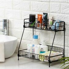 Anti-Rust Metal Storage Rack for Bathroom Toiletries 2-Tier Bathroom Storage