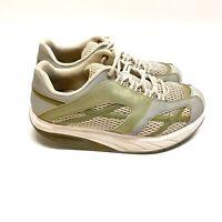 MBT Womens size 7.5 White Gray Walking Toning Comfort Rocker Shoes Shape ups