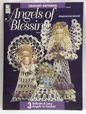 """1996 """"Angels of Blessing"""" Crochet Pattern Booklet 3 Designs Christmas 5034F"""