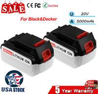 2XLBXR20 20V5.0Ah MAX Matrix Lithium Ion Battery For Black&Decker LCS1620 LDX220