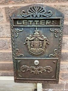 Vintage Steel Post Box / Post Box Front Plate