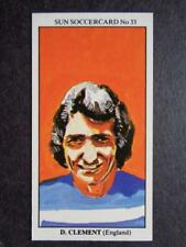 LE SOLEIL soccercards 1978-79 - DAVE CLEMENT - ANGLETERRE #33