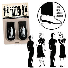 Novelty Retro Look Taller Shoe Lifts Inserts Nostalgia Prank Gag Gift