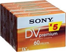 5 Sony miniDV DVM Premium Videocassette 60 Min Camcorder Kassette