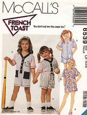 1990's VTG McCall's Children's Romper,Shirt&Shorts Pattern 6539  4-6