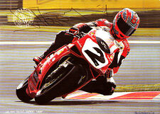 Carl Fogarty main signé Ducati CARTE POSTALE 6X4 3.