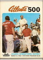 1968 Atlanta 500 program Cale Yarborough win nascar