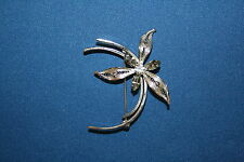 Unique Jay Flex Sterling Flower Brooch with Stones (S010)