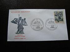 MADAGASCAR - enveloppe 13/5/73 - journee du timbre - yt n° 522 - (cy8)