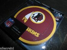 1 - 4 Pack Vinyl Drink Coasters - Washington Redskins - Box