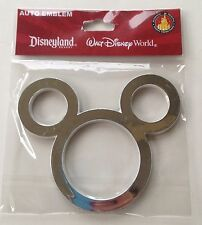 Mickey Mouse Ears Icon Silver Car Auto Emblem Decal Disney World Theme Parks NEW