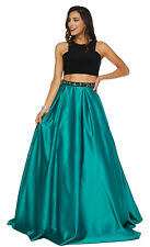 NEW RED CARPET SEMI FORMAL TWO PIECE PROM DRESSES SPECIAL OCCASION EVENING GOWN