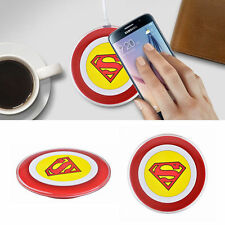 Superman Wireless Charger Charging Pad for Samsung Galaxy S6 S7 Edge with Cable