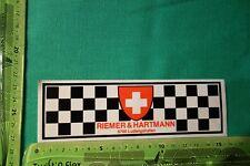 Alter Aufkleber RIEMER & HARTMANN Ludwigshafen