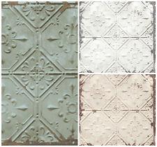Tin Tile paste the wall Wallpaper Urban Prints Metallic Metal Modern Fine Decor