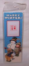 Mary Engelbreit Christmas PHOTO BOOKMARK Happy Winter Snowman Snow