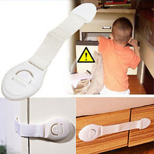 6 Pcs Latch Cabinet Cupboard Door Drawers Lengthened Kids Baby Safety Lock New