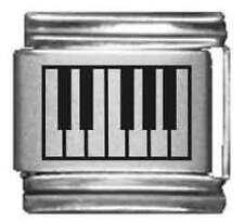 Clearly Charming Piano Keys Laser Italian Charm