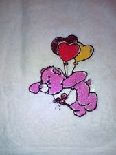 CARE BEARS  FACE CLOTH/LOVELY EMBROIDERED IMAGE /TOWELS /KIDS/GIFTS/VALENTINES