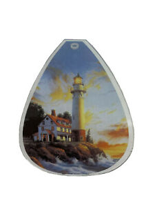 OK Lighting Touch Lamp Shade Glass Panel Lighthouse Ocean Sea Replacement Small
