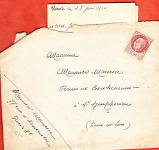 18 JUIN   1944  LETTRE  TIMBRE PETAIN PARIS EURE ET LOIRE