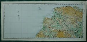 1922 LARGE MAP ~ DEVONSHIRE LAUNCESTON BARNSTAPLE EXETER DULVERTON