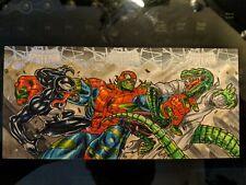 2017 Fleer Ultra Spiderman 3 Card Puzzle Sketch AP Spiderhulk by PJ Catacutan