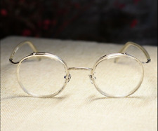 Vintage round crystal eyeglasses frame mens retro womens clear optical glasses