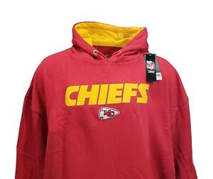 Kansas City Chiefs Red Men's NFL Majestic Pullover Stitched Logo Hoodie
