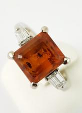 mandarin-citrin-ring – Serie 750 Oro Blanco -gr. 54 – 1 orange-farbener