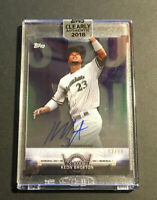 Keon Broxton signed 2018 Topps Clearly Authentic Auto Autograph card CASA-KN /99